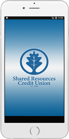 Shared Resources Credit Union on Mobile Phone